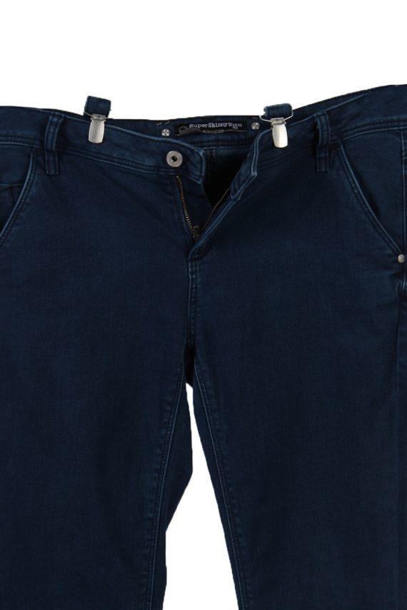 Vintage C&A Super Skinny Removable Stripe Women Jeans W34 L33 Navy J3731-91256