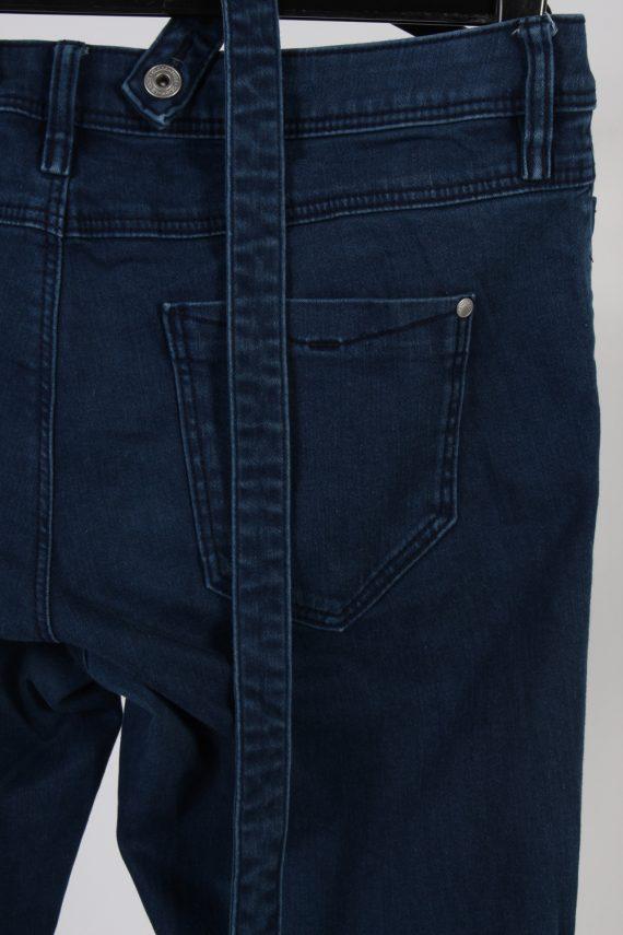Vintage C&A Super Skinny Removable Stripe Women Jeans W34 L33 Navy J3731-91258