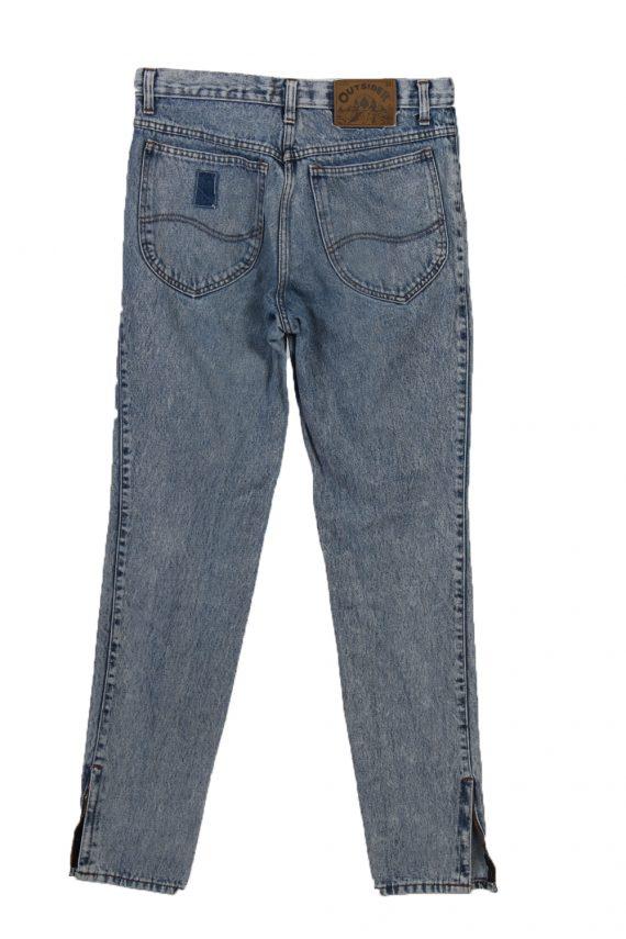 Vintage Outsider Skinny Faded Women Jeans W30 L33 Blue J3766-91607