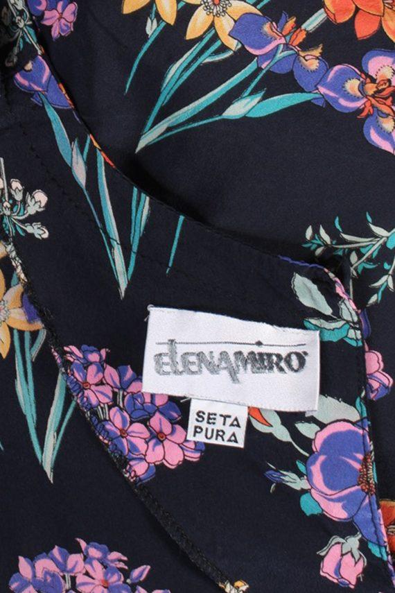 Vintage Elenamiro Blouses Short Sleeve XL Navy LB101-87701