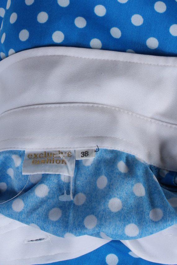 Vintage Exclusive Fashion Blouses Short Sleeve M Blue LB105-87717