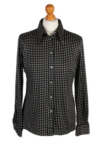 Women 90s Shirt Long Sleeve Black M