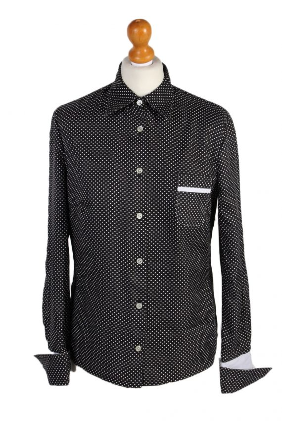 Vintage Unbranded Shirt Long Sleeve L/XL Black LB125-0