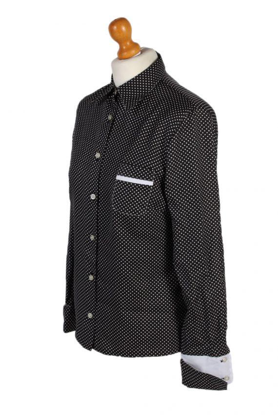 Vintage Unbranded Shirt Long Sleeve L/XL Black LB125-87795