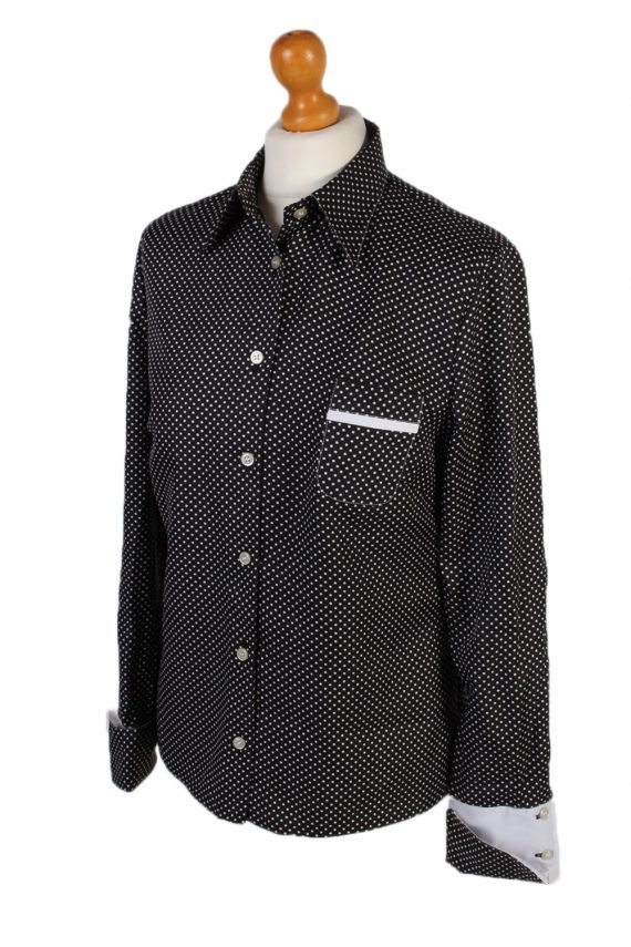 Vintage Unbranded Shirt Long Sleeve L/XL Black LB125-87797