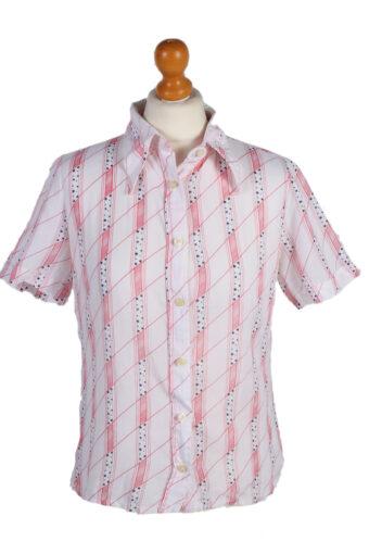 Women 90s Shirt Short Sleeve White M
