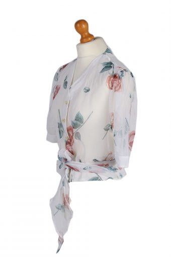 Vintage Cloe Shirt Short Sleeve L White LB141-87859