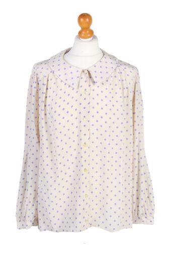Women 90s Shirt Blouses Long Sleeve Cream XL