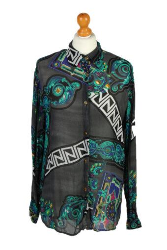 Women 90s Shirt Blouses Long Sleeve XL