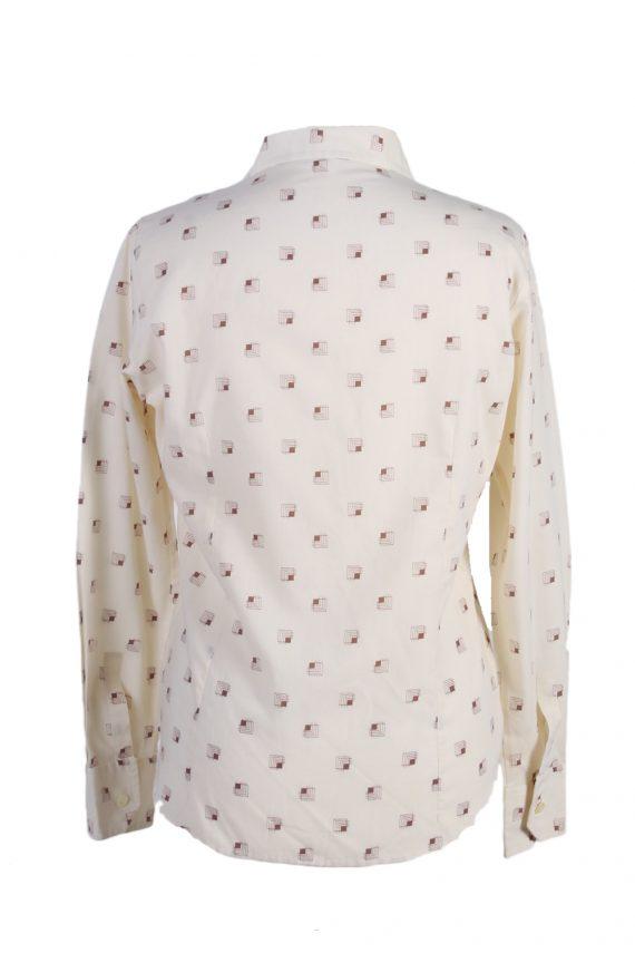 Vintage Fashion Women Shirt Long Sleeve M Cream LB169-88304