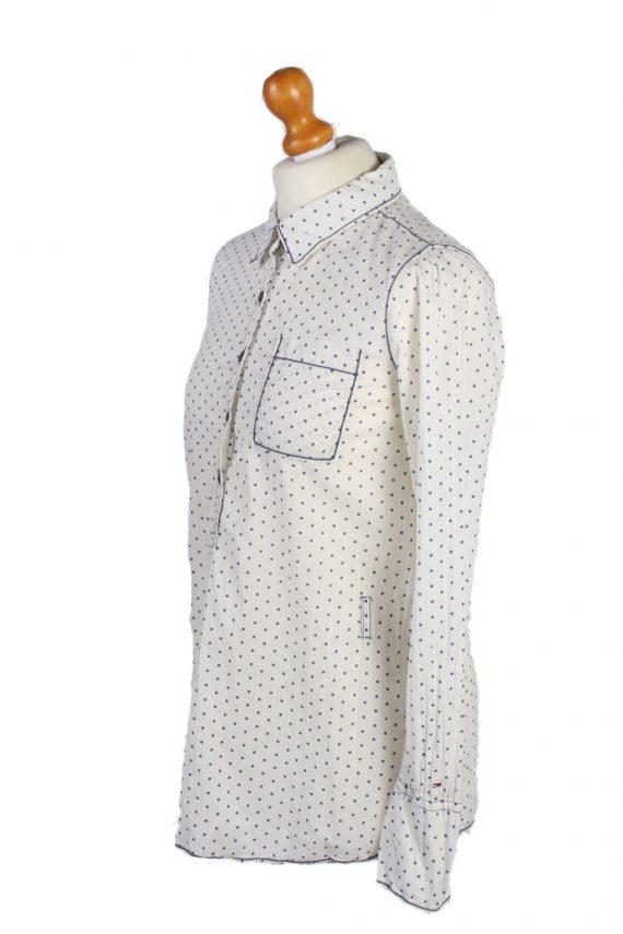 Vintage Heritage Hilfiger Denim Blouses Long Sleeve S White LB172-88311