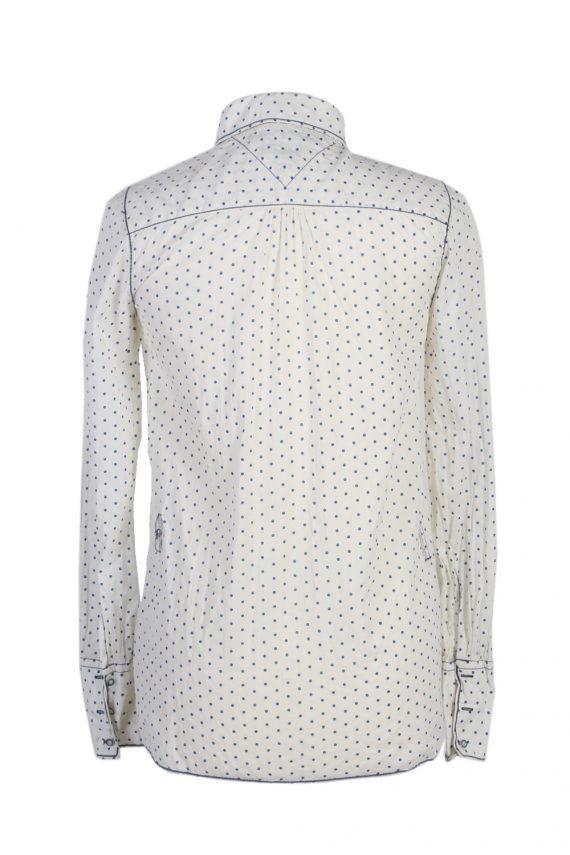 Vintage Heritage Hilfiger Denim Blouses Long Sleeve S White LB172-88312