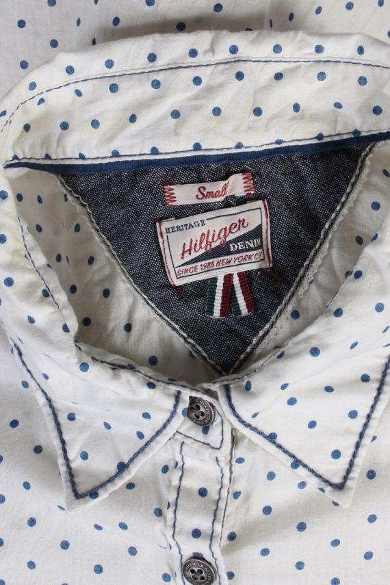 Vintage Heritage Hilfiger Denim Blouses Long Sleeve S White LB172-88313