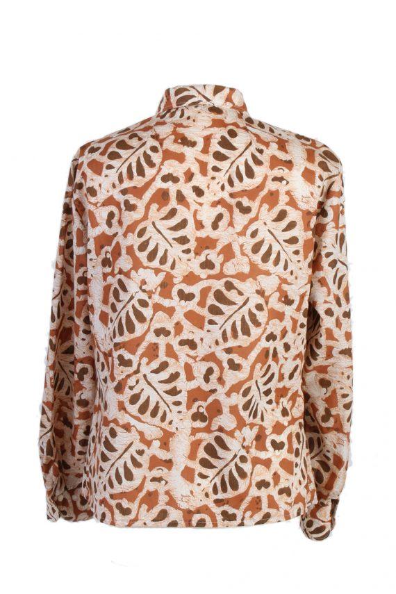 Vintage Dani Hawking Blouses Long Sleeve XL Brown LB174-88320