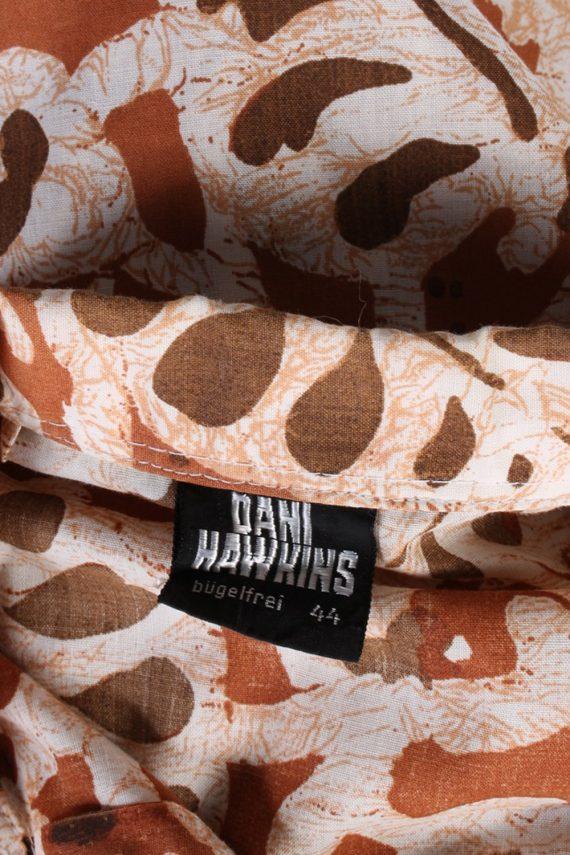 Vintage Dani Hawking Blouses Long Sleeve XL Brown LB174-88321