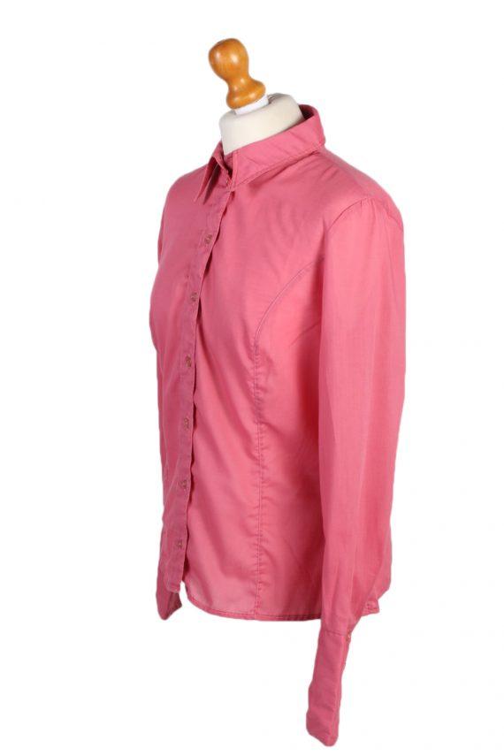 Vintage Dacron Shirt Long Sleeve L Pink LB175-88323