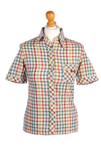Women 90s Shirt Blouses Short Sleeve L