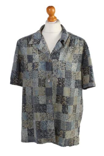 Women 90s Shirt Blouses Short Sleeve XL