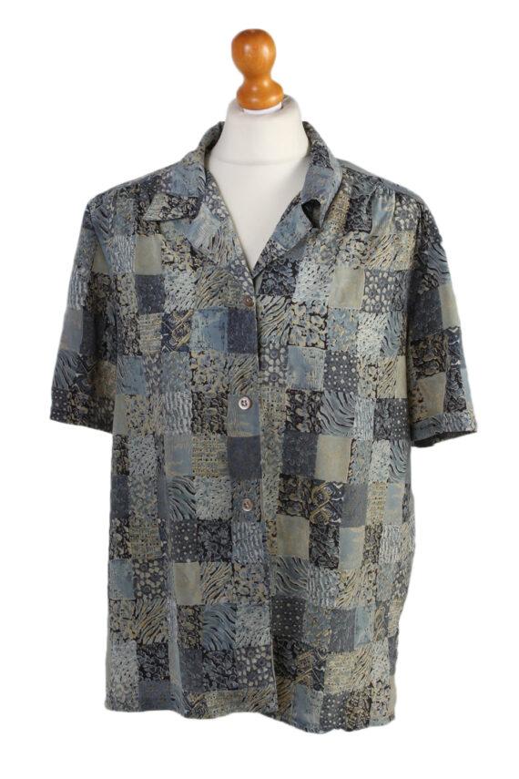 Vintage Madame Glaire Shirt Short Sleeve M Multi LB181-0