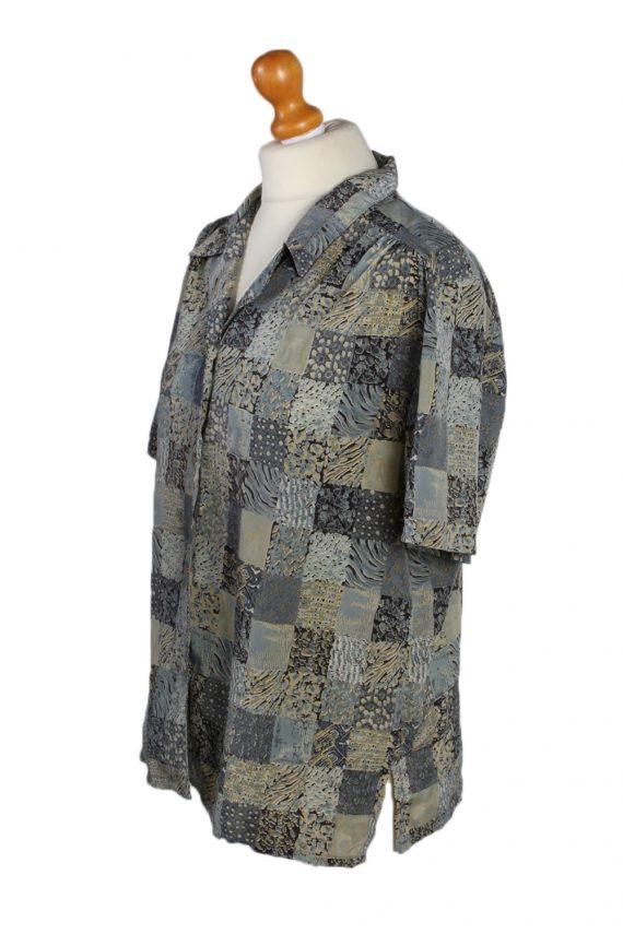 Vintage Madame Glaire Shirt Short Sleeve M Multi LB181-88347