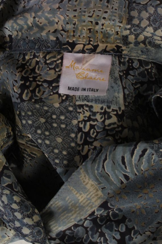 Vintage Madame Glaire Shirt Short Sleeve M Multi LB181-88349
