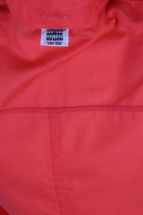 Vintage Diolen Cotton Shirt Short Sleeve M Red LB182-88353