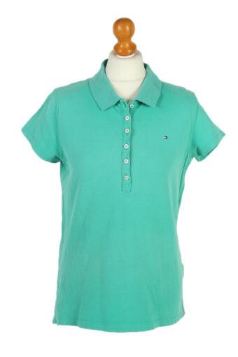 Tommy Hilfiger Polo Shirt 90s Retro Green L