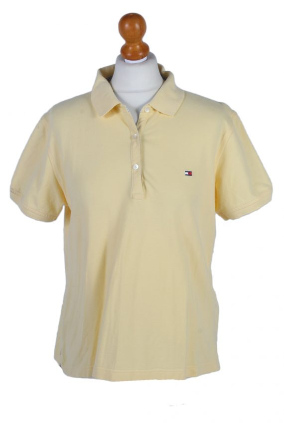 Vintage Tommy Hilfiger Polo Shirt Short Sleeve Tops L Yellow -PT0996-0