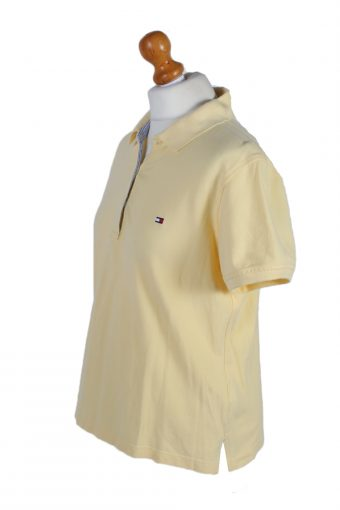 Vintage Tommy Hilfiger Polo Shirt Short Sleeve Tops L Yellow -PT0996-89307