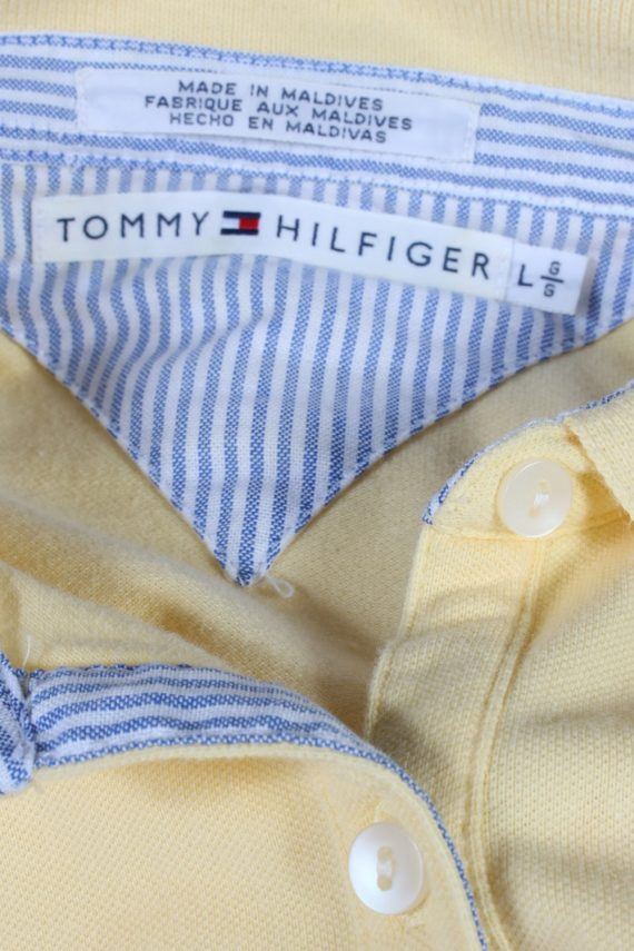 Vintage Tommy Hilfiger Polo Shirt Short Sleeve Tops L Yellow -PT0996-89309