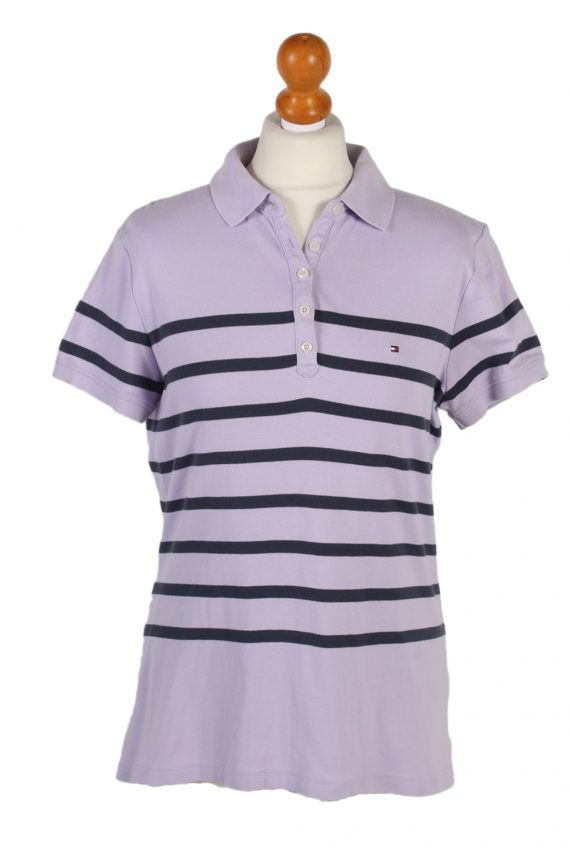 Vintage Tommy Hilfiger Polo Shirt Short Sleeve Tops L Lilac -PT0998-0