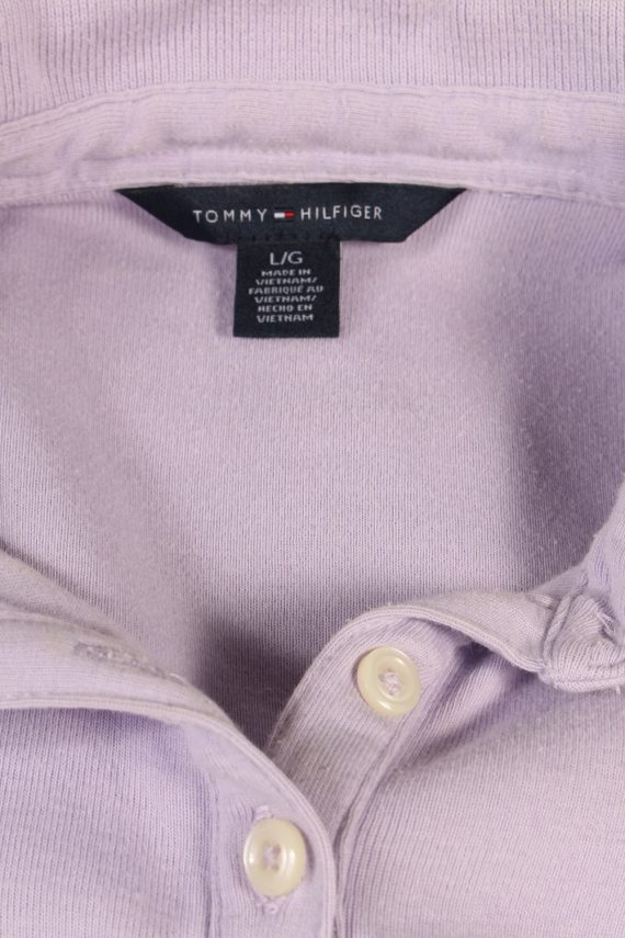 Vintage Tommy Hilfiger Polo Shirt Short Sleeve Tops L Lilac -PT0998-89317