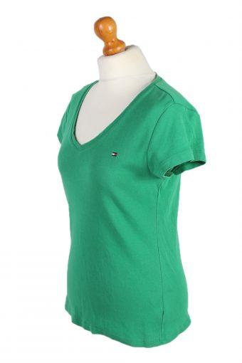 Vintage Tommy Hilfiger Polo Shirt Short Sleeve Tops S/M Green -PT1001-89327