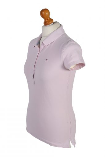 Vintage Tommy Hilfiger Polo Shirt Short Sleeve Tops S Baby Pink -PT1004-89339