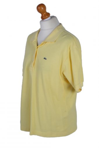 Vintage Lacoste Polo Shirt Short Sleeve Tops XL Yellow -PT1009-89359