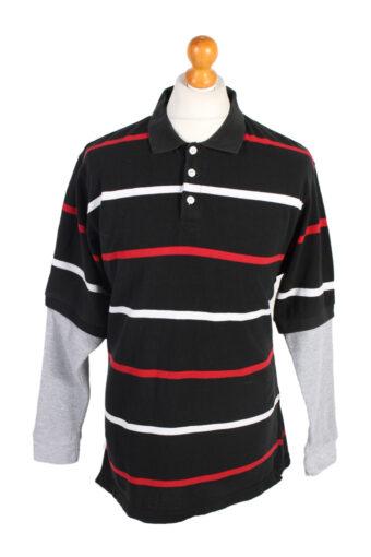 Polo Shirt 90s Retro Black L