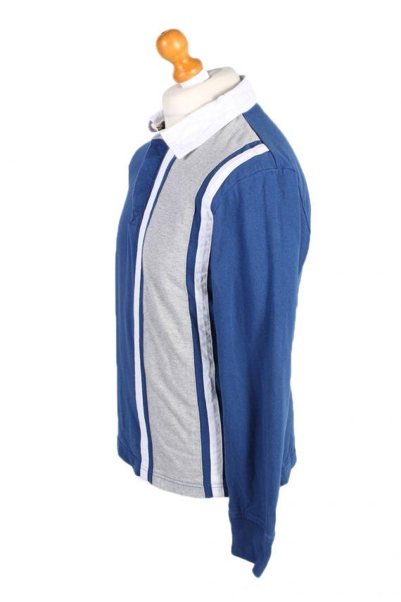 Vintage Nautica Jeans Co. Rugby Sweatshirt Shirt Long Sleeve Tops M Navy -PT1049-90570