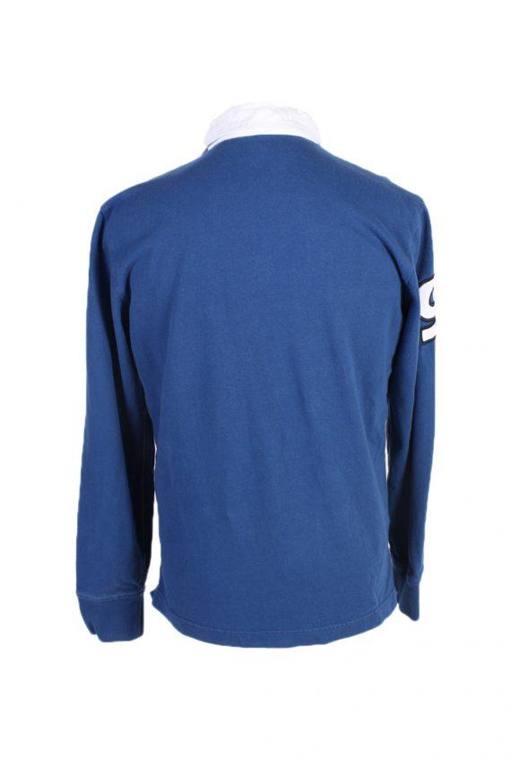 Vintage Nautica Jeans Co. Rugby Sweatshirt Shirt Long Sleeve Tops M Navy -PT1049-90571