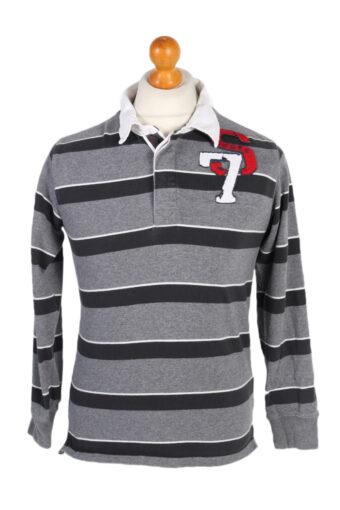 Polo Shirt 90s Retro Grey XL