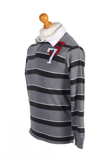 Vintage 77 Kids Rugby Sweatshirt Shirt Long Sleeve Tops XL Grey -PT1053-90586