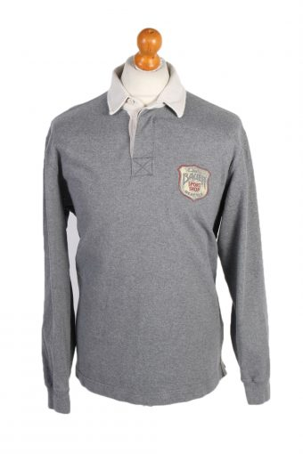 Polo Shirt 90s Retro Grey L