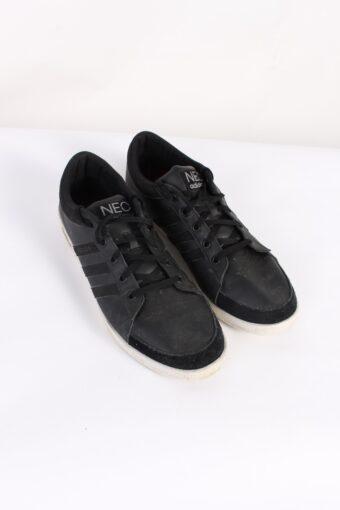 Vintage Adidas NEO Three Stripes Low Tops UK 9.5 Black