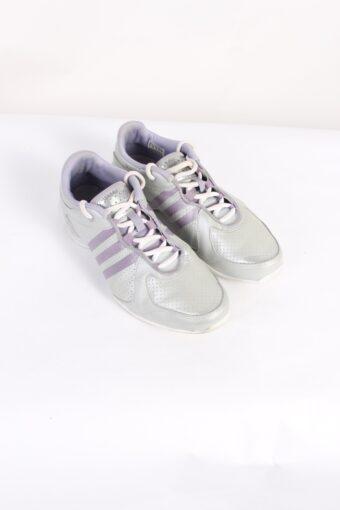Vintage Adidas Three Stripes Low Tops UK 6.5 Silver