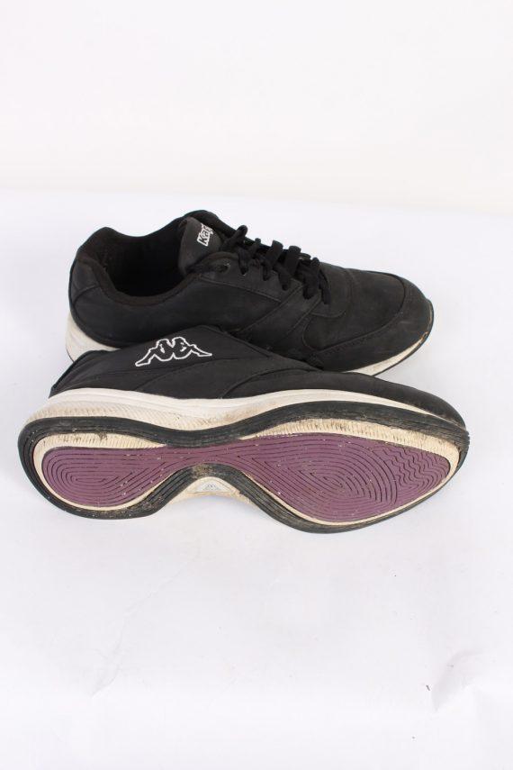 Vintage Kappa Running Low Tops UK 4 Black S546-90296