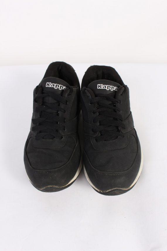 Vintage Kappa Running Low Tops UK 4 Black S546-90297