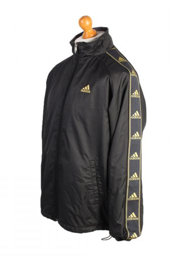 Vintage Adidas Three Stripes Tracksuit Top S Black -SW1985-86793