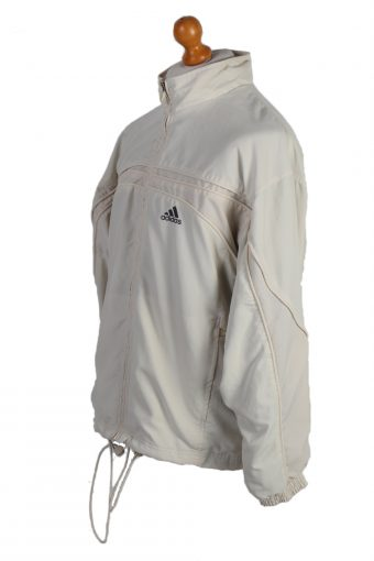 Vintage Adidas Three Stripes Tracksuit Top M Cream -SW1988-86905