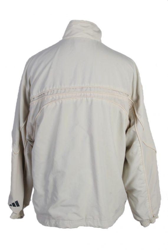 Vintage Adidas Three Stripes Tracksuit Top M Cream -SW1988-86906