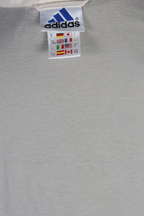 Vintage Adidas Three Stripes Tracksuit Top M Cream -SW1988-86908