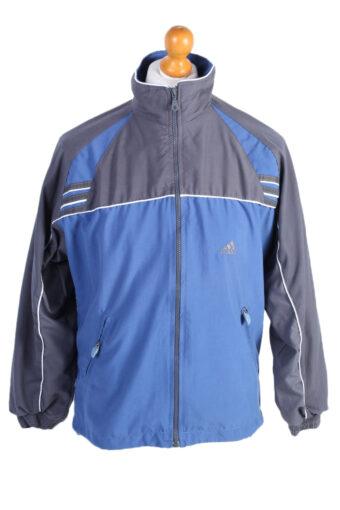 Adidas Three Stripes Track Top Blue Grey S